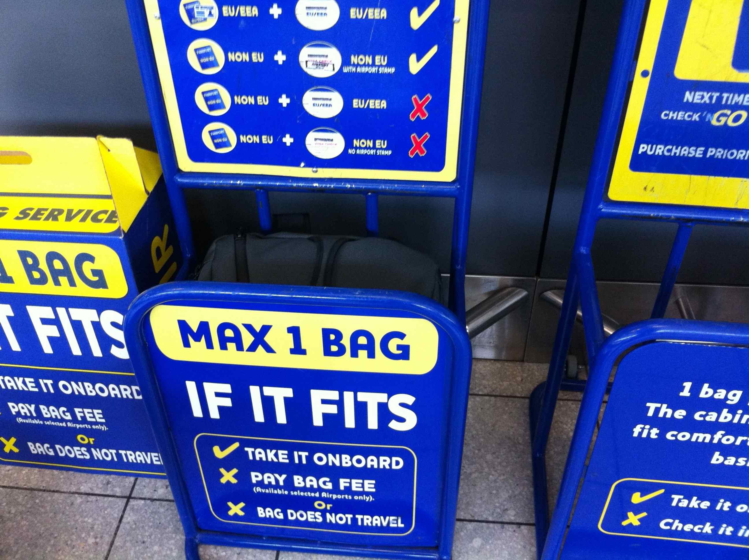 Ryanair bag tester