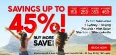 Распродажа от Air Asia: скидки до 45%!