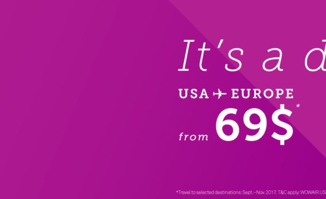 Из США в Европу за $69!