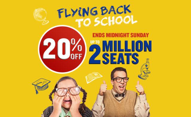 Ryanair: 2 млн авиабилетов со скидкой 20%!