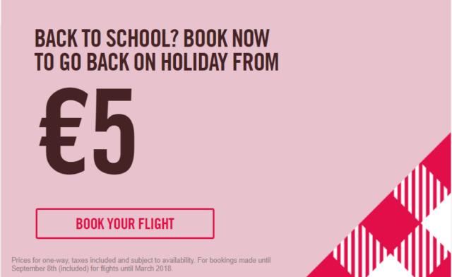 Back to School от Volotea! По Европе за 5 евро